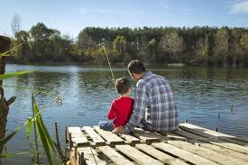 fishing dock with kids